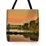 Canadian Autumn Sunrise Tote Bag