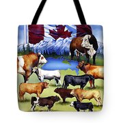 Canadian Beef Breeds Tote Bag