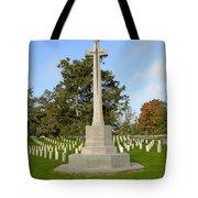 Canadian Cross Of Sacrifice Tote Bag