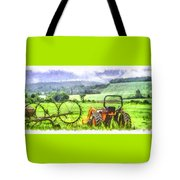 Canadian Farmland With Tractor Tote Bag