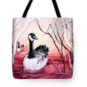 Canadian Geese Sunset Tote Bag