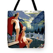 Canadian Pacific - Chateau Lake Louise - Canadian Rockies - Retro Travel Poster - Vintage Poster Tote Bag