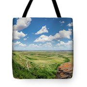 Canadian Prairie At Head-smashed-in Buffalo Jump Tote Bag