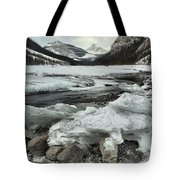 Canadian Rockies Rugged Winter Landscape Tote Bag