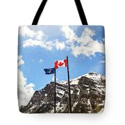 Canadian Rockies - Digital Painting Tote Bag