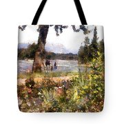 Canadian Sunday Out By The Lake Tote Bag