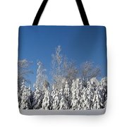 Canadian Winter Panorama Foster Quebec Tote Bag