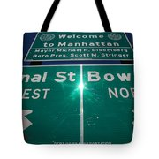 Canal And Bowery Tote Bag
