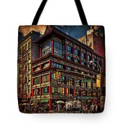Canal And Center Streets New York City Tote Bag