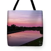 Canal At Sunset Tote Bag