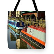 Canal Barges At Gloucester Dock Tote Bag