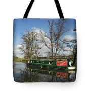 Canal Boat On Wey Navigations Tote Bag