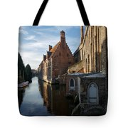Canal By Church Tote Bag
