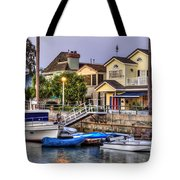 Canal Houses And Boats Tote Bag