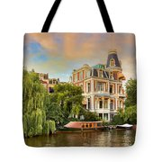 Canal In Amsterdam Tote Bag