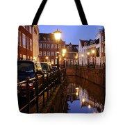 Canal Kromme Nieuwegracht In Utrecht In The Evening 15 Tote Bag