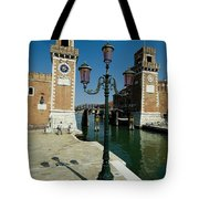 Canal Leading Into The Arsenale Tote Bag