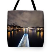 Canal Streaking I Tote Bag