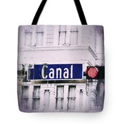 Canal Street In The Big Easy Tote Bag