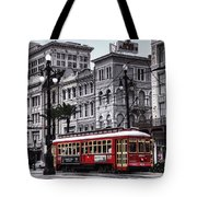 Canal Street Trolley Tote Bag