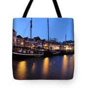 Canal Thorbeckegracht In Zwolle In The Evening Tote Bag