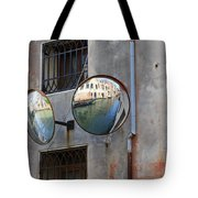 Canals Reflected In Mirrors In Venice Italy Tote Bag