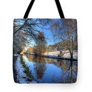 Canalside Winter Wonderland Tote Bag
