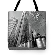 Canary Wharf Financial District In Black And White Tote Bag