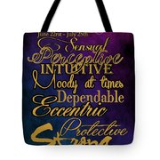 Cancer Tote Bag by Mamie Thornbrue