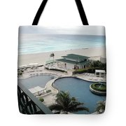 Cancun Beach Resort Tote Bag