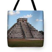 Cancun Mexico - Chichen Itza - Temple Of Kukulcan-el Castillo Pyramid 2 Tote Bag