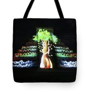 Cancun Mexico - Chichen Itza - Temple Of Kukulcan-el Castillo Pyramid Night Lights 5 Tote Bag