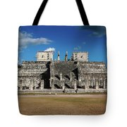 Cancun Mexico - Chichen Itza - Temple Of The Warriors Tote Bag