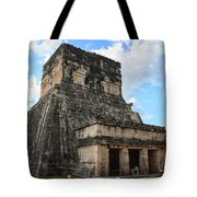 Cancun Mexico - Chichen Itza - Temples Of The Jaguar On The Great Ball Court Tote Bag
