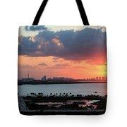 Cancun Mexico - Sunrise Over Cancun Tote Bag