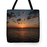 Cancun Mexico - Sunset Over Cancun Tote Bag