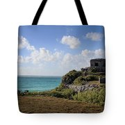 Cancun Mexico - Tulum Ruins - Temple For God Of The Wind 1 Tote Bag