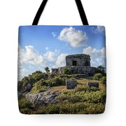 Cancun Mexico - Tulum Ruins - Temple For God Of The Wind 2 Tote Bag