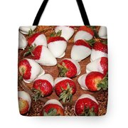 Candied Strawberries Tote Bag