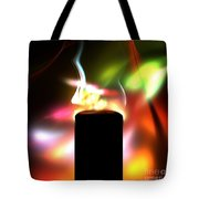 Candle And Colors Tote Bag