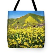 Candle Light In The Temblors - Superbloom 2017  Tote Bag