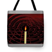 Candle Of Faith And Hope Tote Bag