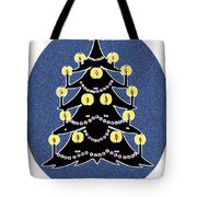 Candlelit Christmas Tree Tote Bag