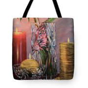 Candlelit Lupins Tote Bag