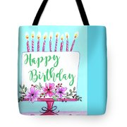 Candles And Cake Tote Bag