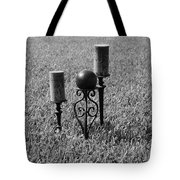 Candles In Grass Tote Bag