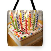 Candles On Birthday Cake Tote Bag