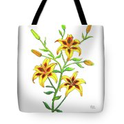 Candy Cane Lily Tote Bag