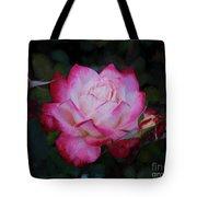 Candy Care Cocktail Floribunda Rose- Digital Art Tote Bag