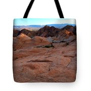 Candy Cliffs Sunset Tote Bag